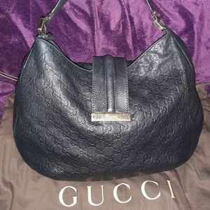 AUTHENTIC😍Gucci😍Guccissima🤩Black Leather Bag🤩